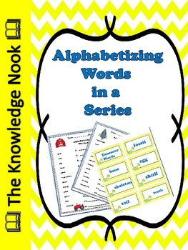 Alphabetizing Words in a Series