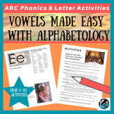 Preschool- Vowels Made Easy! Activity ideas