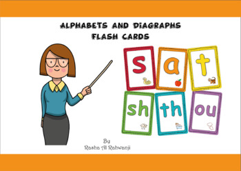 Alphabets And Diagraphs Flash Cards