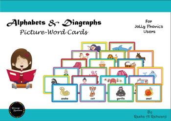 Alphabets And Diagraphs Picture-word Cards