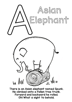 Alphabets Animals -Coloring and Rhyme