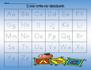 Alphabets Handwriting Practice