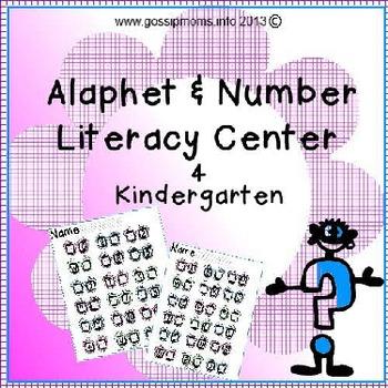 Sun Glasses Alphabets & Number Literacy Center