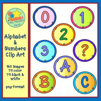 Alphabet and Numbers Clip Art