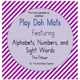 Alphabets, Numbers, and Sight Words Play Doh Mats