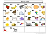 Alphabets Posters and Number Words Matching For PreK, K an