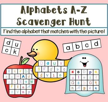 Alphabets Scavenger Hunt Game