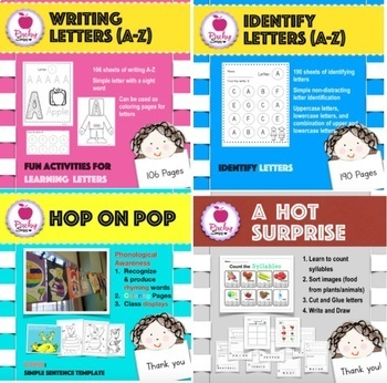 Alphabets, Sight Words, Syllables, Writing, and More Bundle