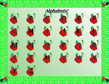 Alphabets and Numbers 1-20