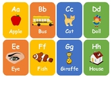 Alphabets flash cards with pictures