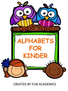 Alphabets for Kinder