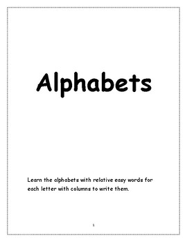 Alphabets with words