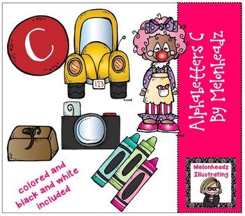 Melonheadz: Alphabetter C clip art - Combo Pack