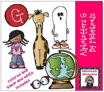 Melonheadz: Alphabetter G clip art - Combo Pack