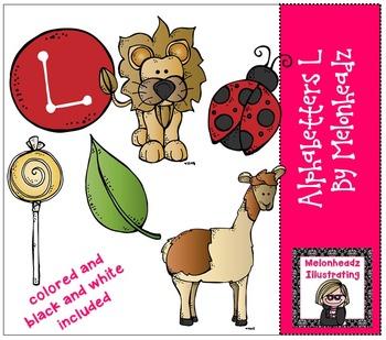 Melonheadz: Alphabetter L clip art - Combo Pack