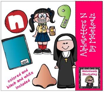 Alphabetter N clip art - Combo Pack- by Melonheadz