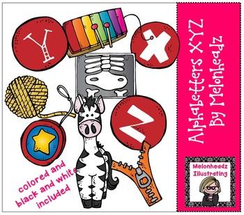 Melonheadz: Alphabetter XYZ clip art - Combo Pack