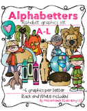 Alphabetters A-L bundled package clip art - Combo Pack- by Melonheadz