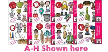 Alphabetters A-L bundled package clip art - Combo Pack- by Melonheadz