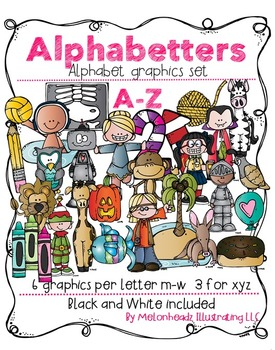 Melonheadz: Alphabetters Complete Bundled Package clip art - Combo Pack