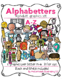 Alphabetters Complete Bundled Package clip art - Combo Pack- by Melonheadz