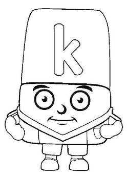 Feel better soon block letter coloring pages ~ Alphablocks colour in pages videos for the classroom