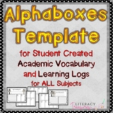 Alphaboxes & Learning Logs for ALL Subjects