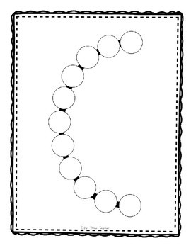 Alphadot Alphabet Dot It! Dab It! Stick It! Generic Worksheets ~ Focus Letter C