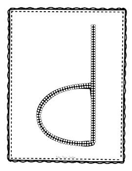 Alphadot Alphabet Dot It! Dab It! Stick It! Generic Worksheets ~ Focus Letter D