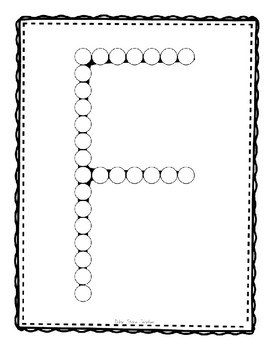 Alphadot Alphabet Dot It! Dab It! Stick It! Generic Worksheets ~ Focus Letter F