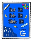 Alphadot Alphabet Dot It! Dab It! Stick It! Generic Worksheets ~ Focus Letter G