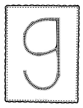 Alphadot Alphabet Dot It! Dab It! Stick It! Generic Worksheets ~ Focus Letter G