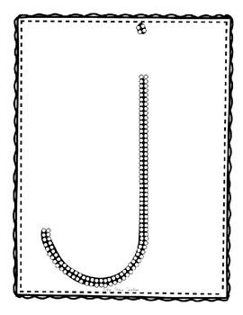 Alphadot Alphabet Dot It! Dab It! Stick It! Generic Worksheets ~ Focus Letter J