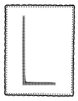 Alphadot Alphabet Dot It! Dab It! Stick It! Generic Worksheets ~ Focus Letter L