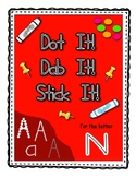 Alphadot Alphabet Dot It! Dab It! Stick It! Generic Worksheets ~ Focus Letter N