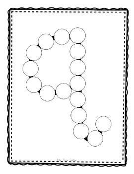 Alphadot Alphabet Dot It! Dab It! Stick It! Generic Worksheets ~ Focus Letter Q