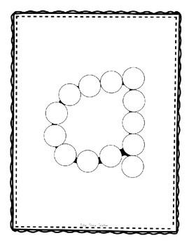 Alphadot Alphabet Dot It! Dab It! Stick It! Generic Worksheets ~ Focus Letter A