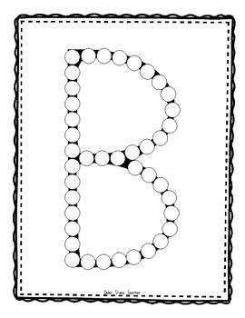 Alphadot Letter Collection Dot It! Dab It! Stick It! Worksheets  Entire Alphabet