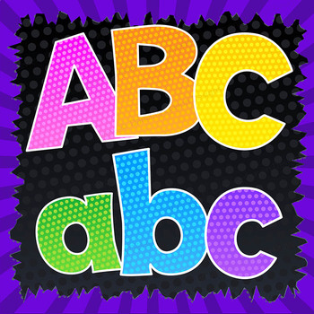 Alphadots! Colorful Alphabet Letters Clip Art