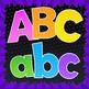 Alphadots! Colorful Alphabet Letters Clip Art