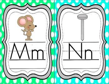 Alphadots- Polka Dot Themed Alphabet Mini Posters