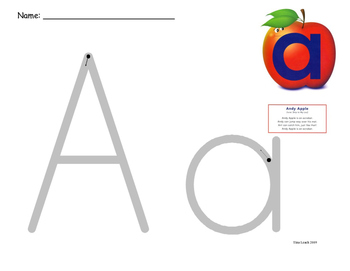Alphafriends Rainbow Writing A - Z (Without Rainbows)