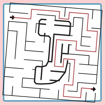 Alphamaze - Letter J Maze Set 3 Mazes Clip Art Set for Commercial Use