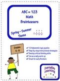 Alphametic Math Logic Puzzles - Summer Theme Brainteaser
