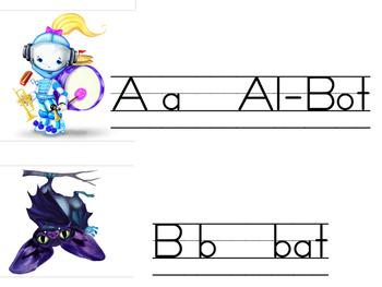 Alphamoji Alphabet Line Part 1