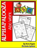 Alphapalooza ABC Work { alphabet work }