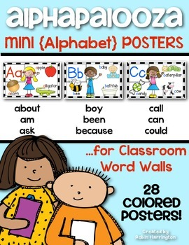 Alphabet Posters for Kindergarten and First Grade