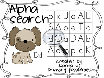 Alphasearch (alphabet / letter recognition in print)