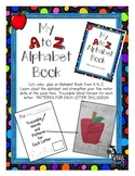 Alphabet Book A to Z Cut Paste and Create Book with Dotted