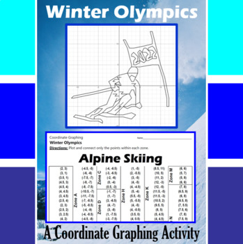 Alpine Skiing - An Olympic Coordinate Graphing Activity